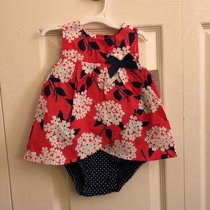 CARTER'S floral petal-front bubble suit/dress